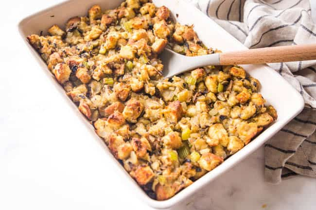 vegetarian stuffing for the win on thanksgiving!