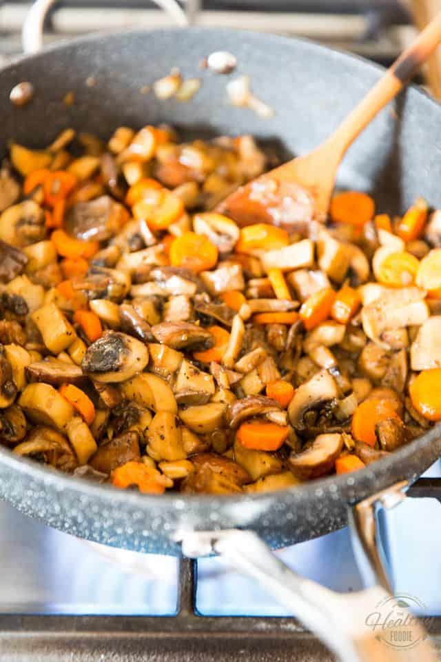 Add the carrots to the skillet and stir to coat