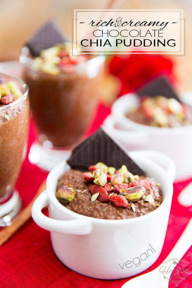 This Vegan Chocolate Chia Pudding is crazy thick and creamy and has a decadently rich and intense chocolate flavor. Yet, it's loaded with wholesome ingredients and is actually good for you!