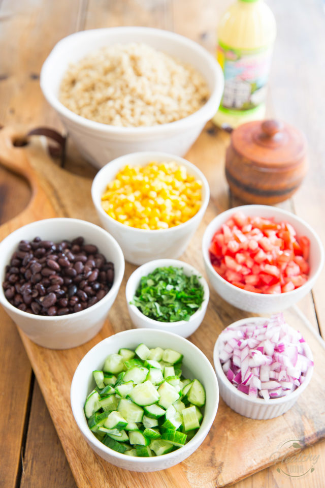 All the ingredients that go in the making of this salad