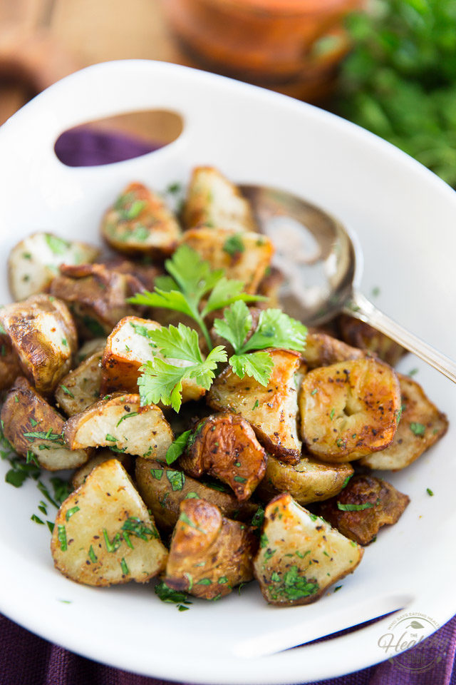 Oven Roasted Jerusalem Artichokes, also called Sunchokes, are a nice change from your regular taters! They're really similar, only they're a tad chewier and sweeter and not quite as starchy, with a delicate nutty flavor that's slightly reminiscent of artichokes.
