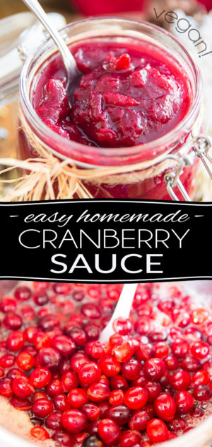 Naturally sweetened with orange juice and maple syrup, this Cranberry Sauce is so stupid easy to make and tastes so much better than the sugar-laden storebought stuff... Plus, it can - and even should - be made ahead of time, so there are no excuses not to make your own!