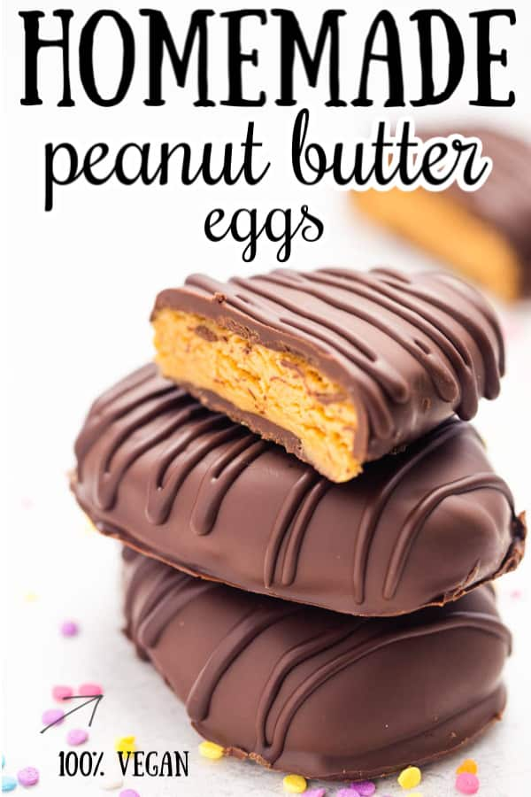 Homemade Vegan Peanut Butter Eggs are the perfect addition to your Easter Baskets this year!