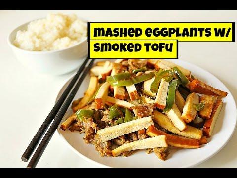 Easy Mashed Eggplant with Smoked Tofu